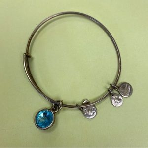 Alex and Ani Aquamarine Bracelet